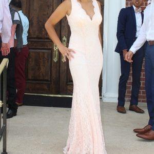 Dress peach color